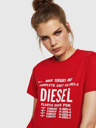 Diesel - T-SILY-ZF, Fire Red - T-Shirts - Image 3