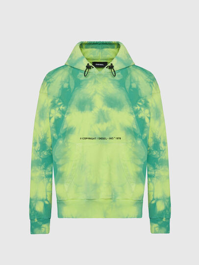 Diesel - S-ALBYEL-X4, Green/Yellow - Sweaters - Image 1