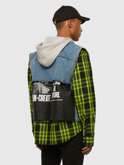 Diesel - J-RUBEN, Green/Black - Jackets - Image 7