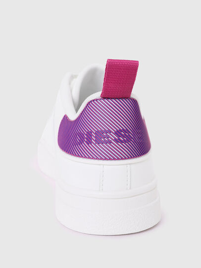 Diesel - S-CLEVER LOW LACE W, White/Violet - Sneakers - Image 4