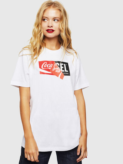 Diesel - CC-T-JUST-COLA, White - T-Shirts - Image 2