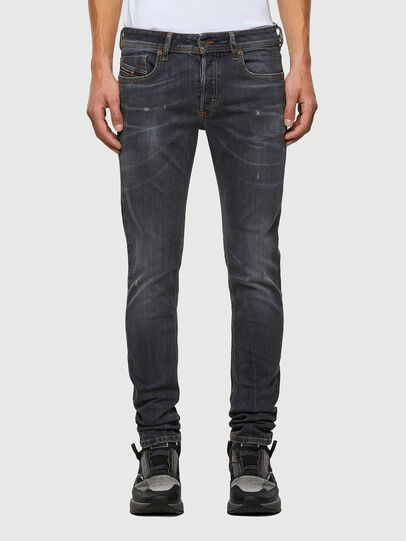 Diesel - Sleenker 009DJ, Black/Dark grey - Jeans - Image 1