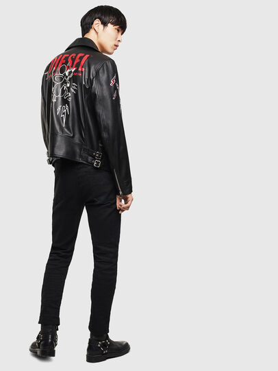 Diesel - CL-L-GOTIV-LITM, Black - Leather jackets - Image 7