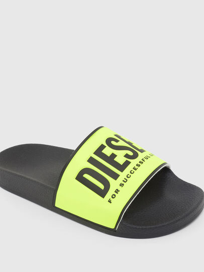 Diesel - SA-VALLA W, Black/Yellow - Slippers - Image 4