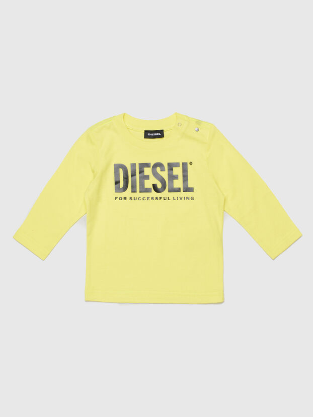 TJUSTLOGOB ML, Yellow - T-shirts and Tops