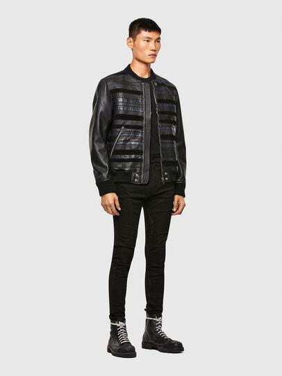 Diesel - L-ROGER, Black - Leather jackets - Image 6