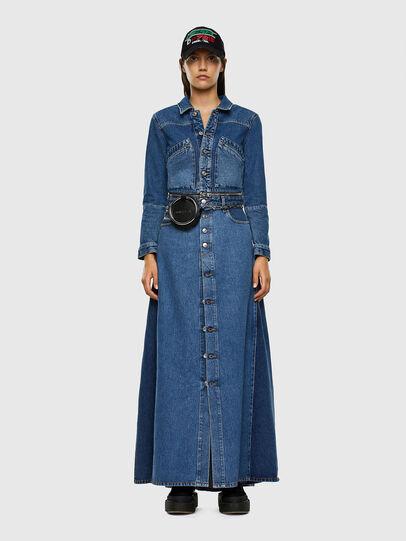 Diesel - DE-BLOCHY, Medium blue - Denim Jackets - Image 6
