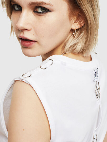 Diesel - T-LESLEE-A, White - T-Shirts - Image 4