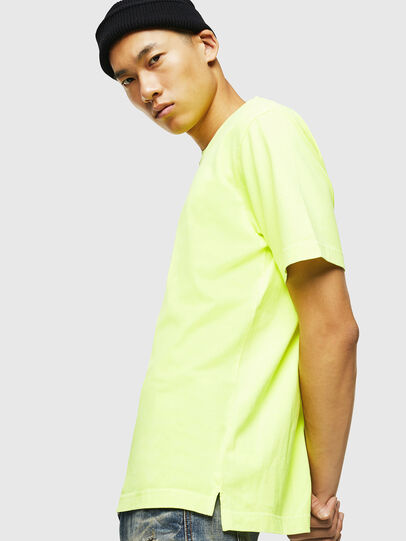 Diesel - T-JUST-SLITS-FLUO, Yellow Fluo - T-Shirts - Image 5