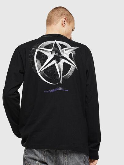 Diesel - T-JUST-LS-VINT, Black/White - T-Shirts - Image 2