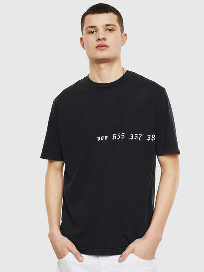 Diesel - T-JUST-T12, Black - T-Shirts - Image 1