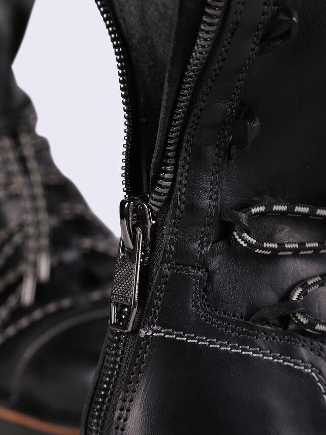STEEL LBZIP, Black Leather
