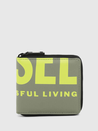 Diesel - ZIPPY HIRESH S II, Olive Green - Small Wallets - Image 1