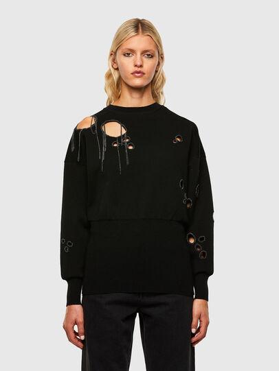 Diesel - M-ARIZONA, Black - Knitwear - Image 1