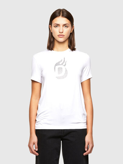 Diesel - T-SILY-R1, White - T-Shirts - Image 1