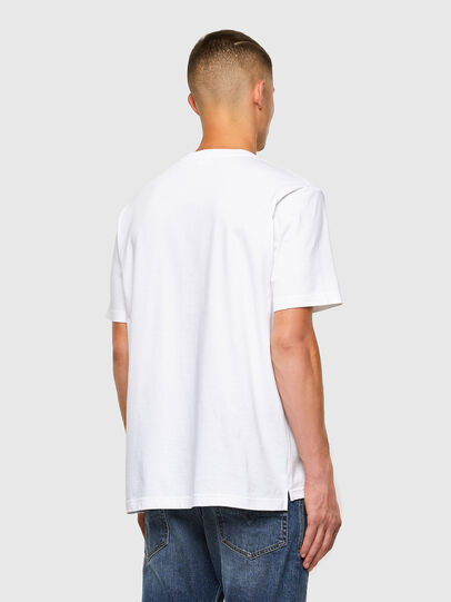 Diesel - T-JUST-SLITS-X85, White - T-Shirts - Image 6