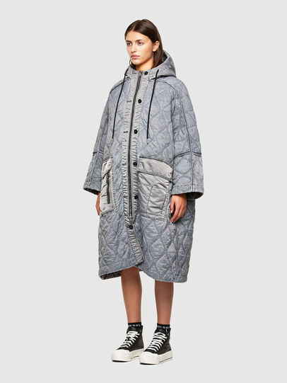 Diesel - W-DAYA, Grey - Winter Jackets - Image 5