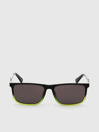 Diesel - DL0312, Black/Yellow - Sunglasses - Image 1