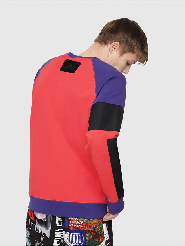 Diesel - S-GIM-BLOCK, Red/Black - Sweaters - Image 2