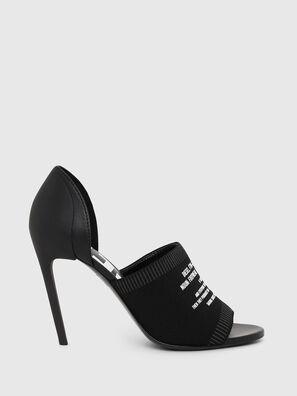 SA-SLANTY OT, Black - Sandals