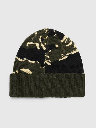 Diesel - K-MASK, Green/Black - Knit caps - Image 2