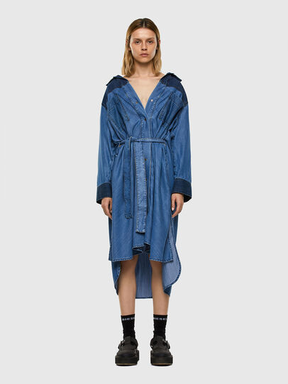 Diesel - DE-NIAVY, Light Blue - Dresses - Image 6