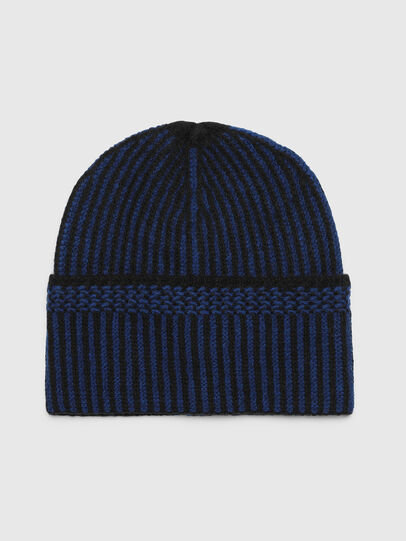 Diesel - K-MANNYS, Black/Blue - Knit caps - Image 1
