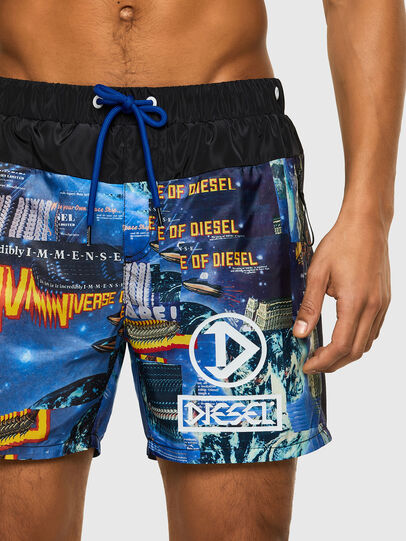 Diesel - BMBX-WAVE-Y, Black/Blue - Swim shorts - Image 3