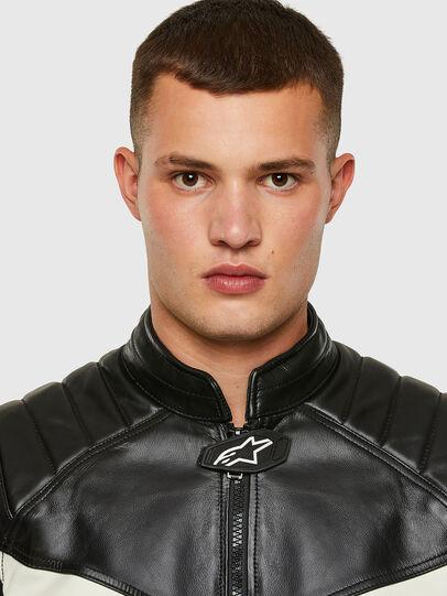 Diesel - ASTARS-LDUE-B, Black - Leather jackets - Image 3