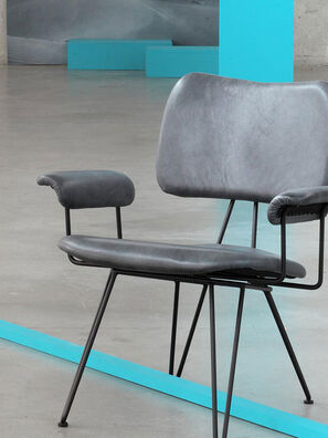 OVERDYED LEATHER LOUNGE ,  - Furniture