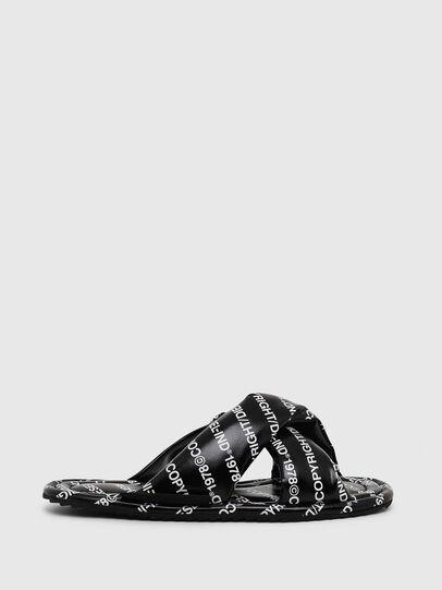 Diesel - SA-MERY X, Black/White - Slippers - Image 1