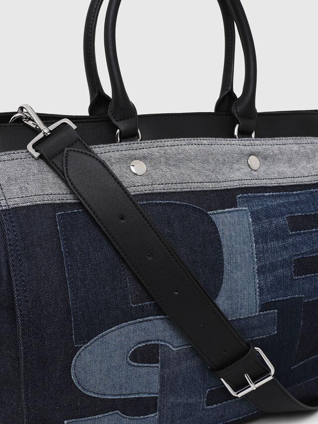 Diesel - F-DESTAR SHOPPER M, Blue Jeans - Shopping and Shoulder Bags - Image 3