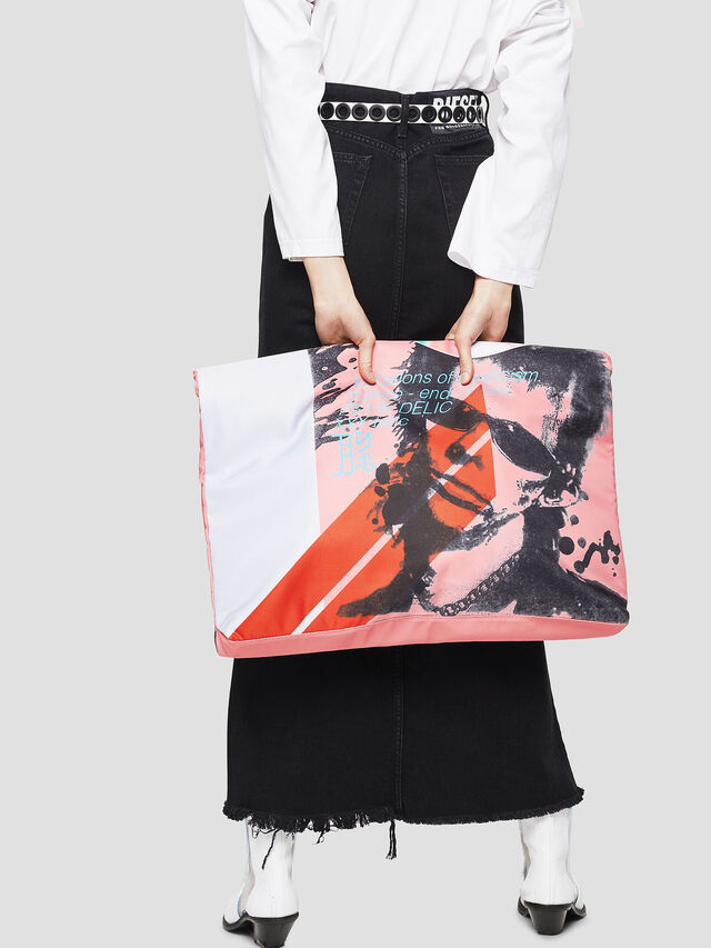 Diesel - F-LITT SHOPPER EW, White/Pink - Shopping and Shoulder Bags - Image 5