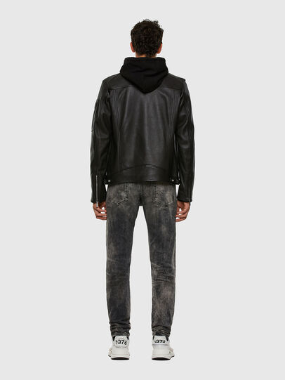 Diesel - L-CASE-KA, Black - Leather jackets - Image 7