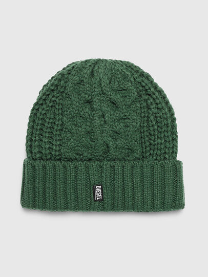 Diesel - K-KONEX, Dark Green - Knit caps - Image 2