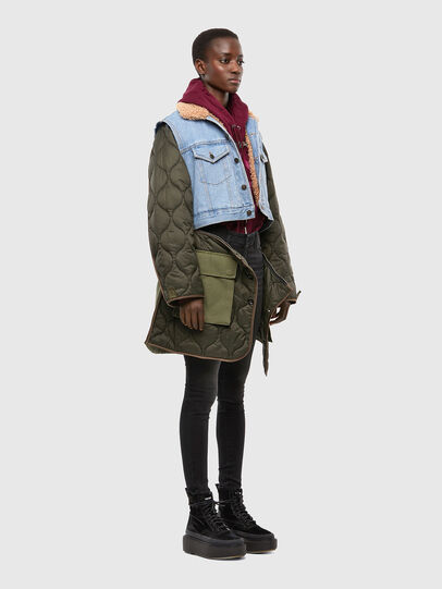Diesel - W-SHAYL, Military Green - Winter Jackets - Image 6