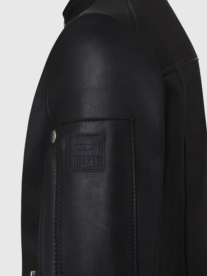 Diesel - L-CASE-KA, Black - Leather jackets - Image 4