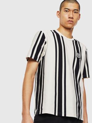 T-STRIP-J1, White/Black - T-Shirts
