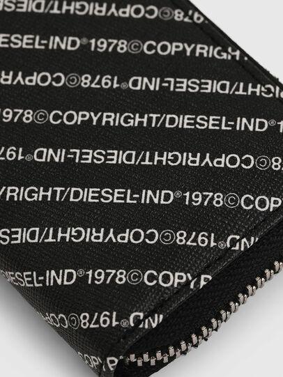 Diesel - JAPAROUND, Black/White - Zip-Round Wallets - Image 4