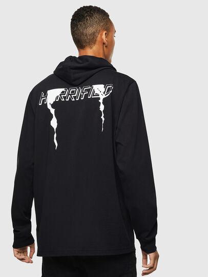 Diesel - T-JUST-LS-HOOD-J5, Black - T-Shirts - Image 2