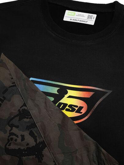 Diesel - D-HALF&HALF, Black - Sweaters - Image 4