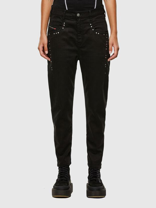 Fayza JoggJeans 069NC, Black/Dark grey - Jeans