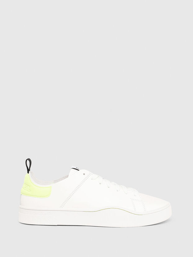 S-CLEVER LS, White/Yellow - Sneakers