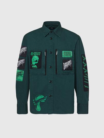 Diesel - S-MARCUS, Dark Green - Shirts - Image 1