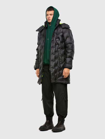 Diesel - W-RUSSELL-LONG-THERM, Black - Winter Jackets - Image 6