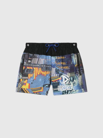 Diesel - BMBX-WAVE-Y, Black/Blue - Swim shorts - Image 4