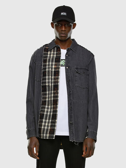 Diesel - D-FINLY, Dark grey - Denim Shirts - Image 5
