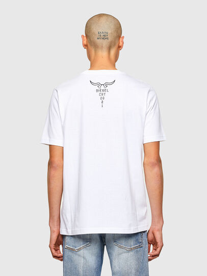 Diesel - CL-T-JUST-O, White - T-Shirts - Image 3