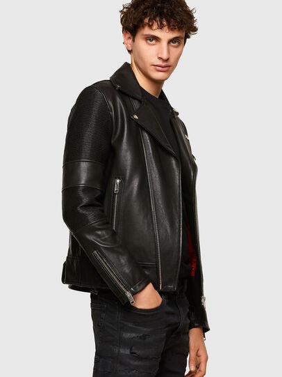 Diesel - L-STARKVILLE, Black - Leather jackets - Image 5