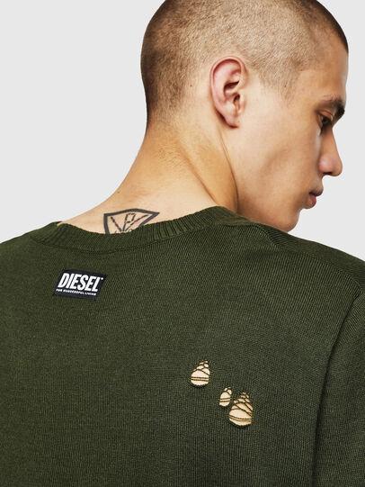Diesel - K-PLUG, Dark Green - Knitwear - Image 3